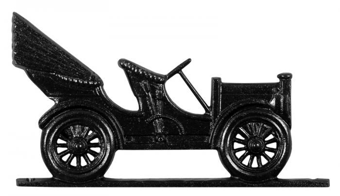 """30"""" Antique Auto Weathervane - Garden Black"""