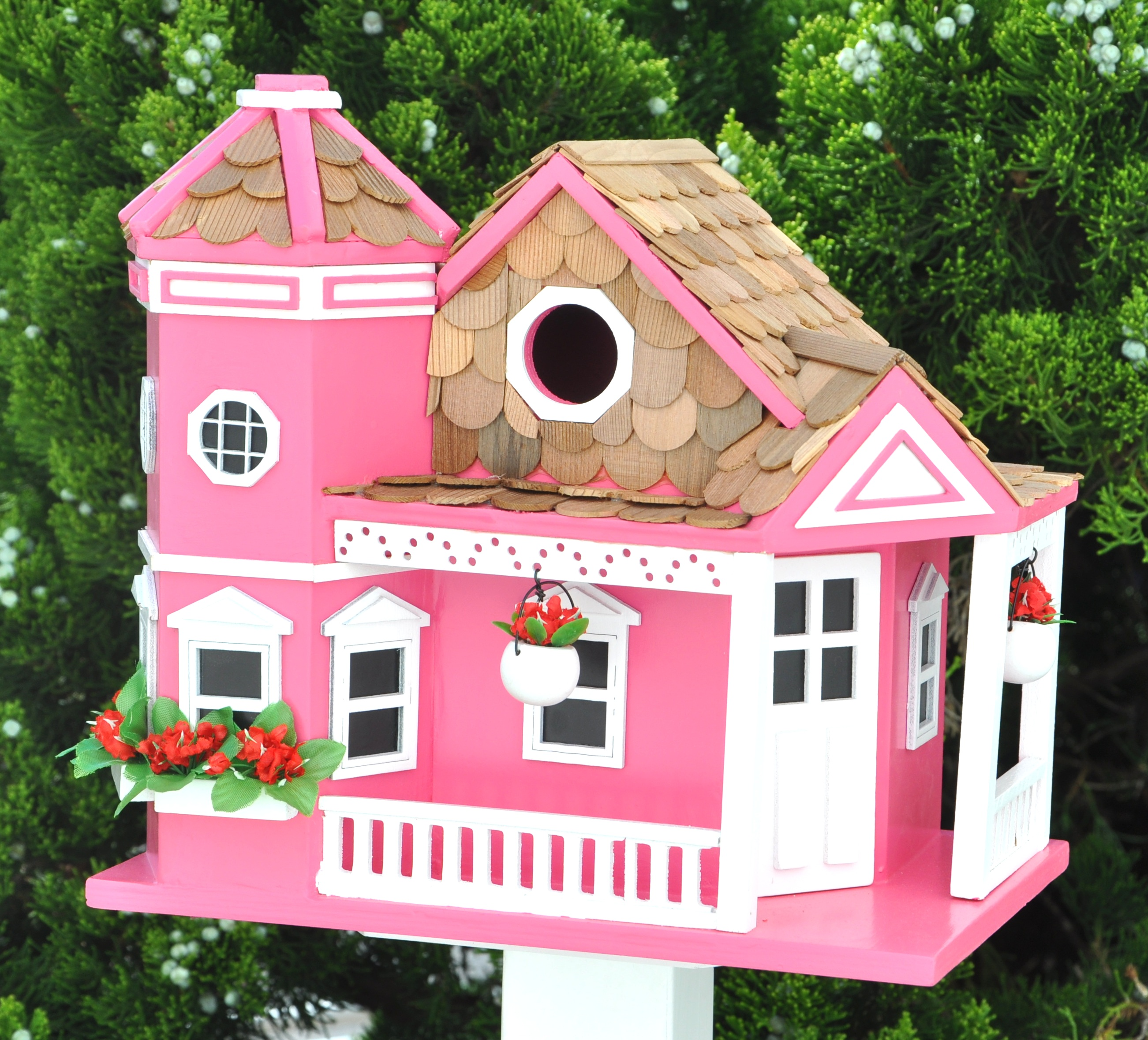 Home bazaar classic series sea cliff cottage birdhouse for Classic bird houses