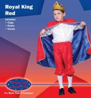 Dress Up America Royal King - Red - Small 4-6