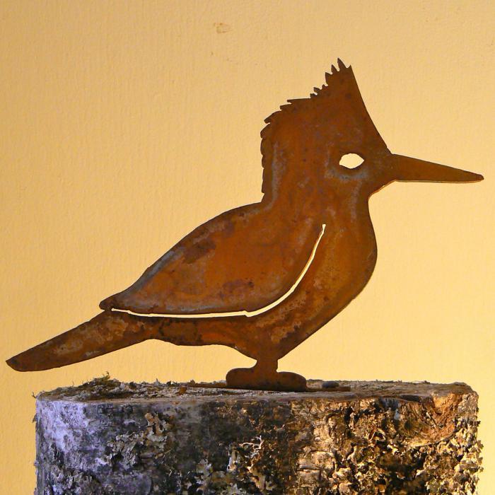 Elegant Garden Design Kingfisher Bird Silhouette