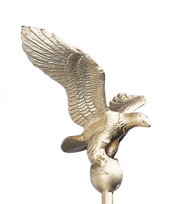 Small Flagpole Eagle - Gold Bronze
