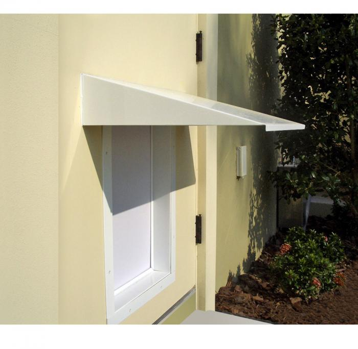 PlexiDor Large / XLarge Pet Door Awning, White