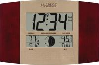 La Crosse Technology Atomic Digital Wall Clock with Moon & IN/OUT Temp