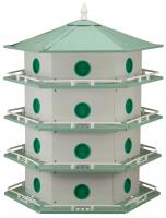 Heath Aluminum 24-Room Deluxe Purple Martin House
