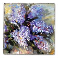 Counter Art Carol's Lilacs Single Tumbled Tile Coaster