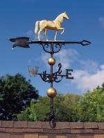 "46"" Horse Weathervane - Gold-Bronze"