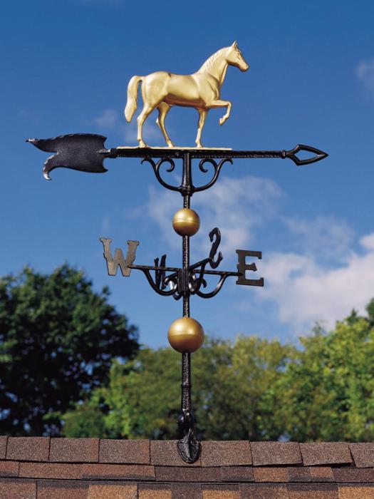 "46"" Horse Weathervane - Gold-Bronze"