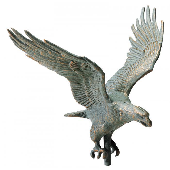 "30"" Full-Bodied Eagle Weathervane - Verdigris"