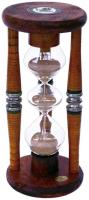Three Tier Five Minute Antique Wood Sand Timer - 9 Inches Tall