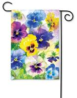 Magnet Works Mixed Pansies Garden Flag