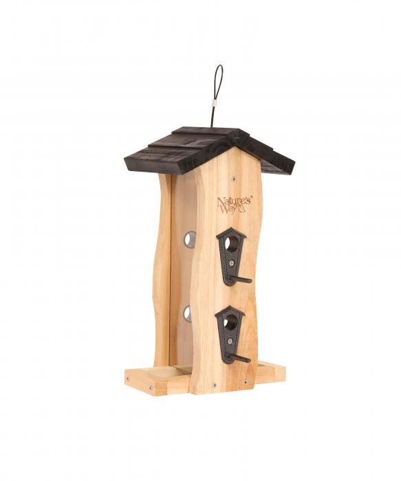 Nature's Way Cedar Vertical Wave Bird Feeder