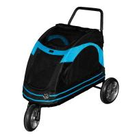 "Pet Gear Roadster Pet Strollers Black / Blue 33"" x 20"" x 21"""