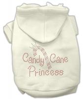 Candy Cane Princess Dog Hoodie Cream/Extra Large