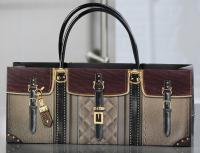 Giftcraft Leather Handbag Design Wine Bottle Gift Bag