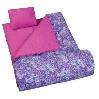 Olive Kids Watercolor Ponies Purple Sleeping Bag
