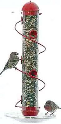"""Bird Quest 17"""" Red Spiral Sunflower Bird Feeder"""