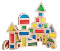 Guidecraft Jr Rainbow Block 40 Piece Set