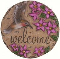 Carson Decor Stepping Stone Welcome Hummingbird
