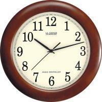 "La Crosse Technology 12"" Wood Atomic Analog Wall Clock, Walnut"