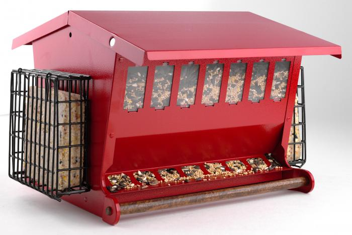 Heritage Farms Red Seeds 'N More Bird Feeder