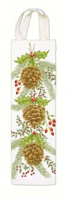 Alice's Cottage Holiday Pinecones Wine Caddy