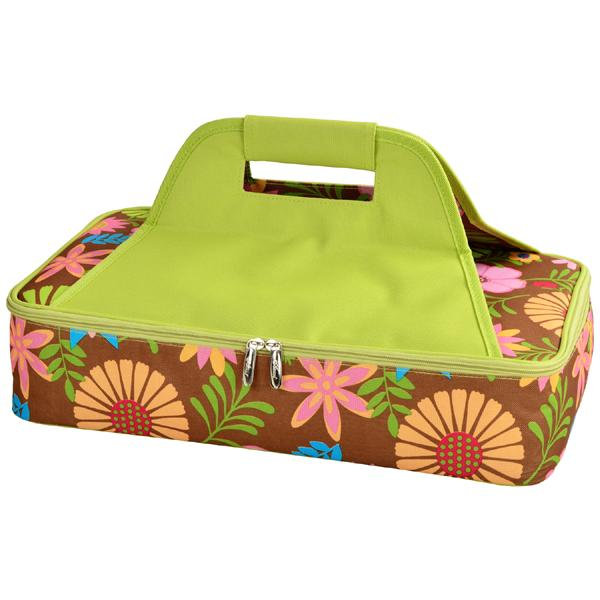 Picnic at Ascot Insulated Casserole Carrier to keep Food Hot or Cold- Floral
