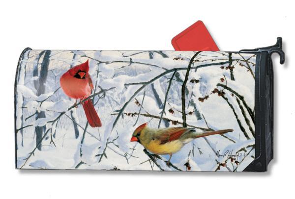 Magnet Works Winter Morning Cardinals Mailwrap