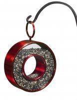 Good Directions Fly-Thru Circle Bird Feeder, Ruby Red