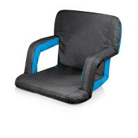 Picnic Time Ventura Seat Portable Recliner Chair (Waves Collection)