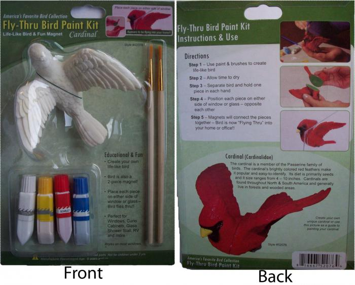 The Clark Collection Cardinal Fly Thru Bird Paint Kit