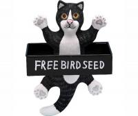 Bobbo Bird Feeder Cat Black / White