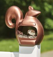 Good Directions Enchanted Squirrel Venetian Bronze Bird Feeder