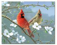 Counter Art Beautiful Songbirds Glass Cutting Board 12x15