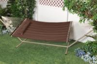 "Bliss Hammocks ""S"" Stitched Comfort Classic Poly Quilted Hammock - Cocoa Brown"