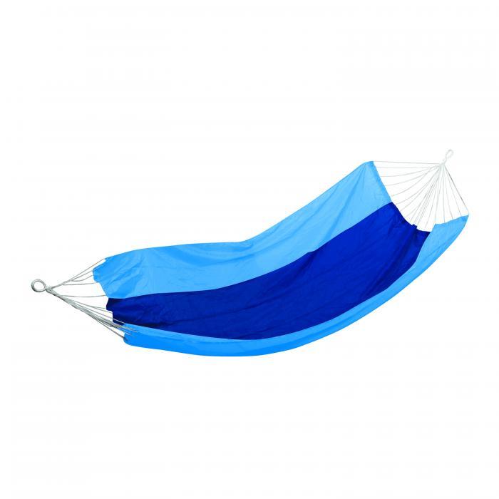 "Stansport Malibu Packable Nylon Hammock - 85"" X 59"" - Blue/Sky Blue"