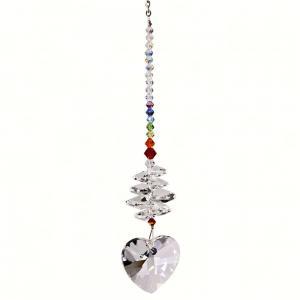 Woodstock Chimes Crystal Brilliance Cascade Heart