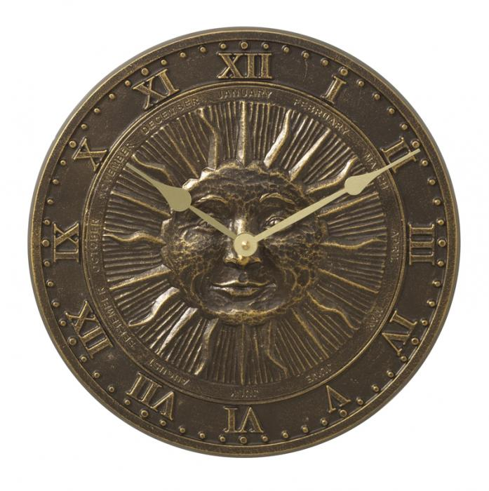 Whitehall Sunface Clock - French Bronze