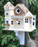 Home Bazaar Classic Series Sea Cliff Cottage Birdhouse (Yellow)