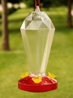 Woodlink Audubon Series 24 Ounce Crystal Tower Hummingbird Bird Feeder w/ EZ View Base