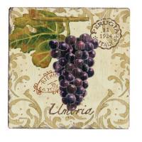 Counter Art Vista Grapes Tumbled Tile Coasters Set of 4