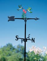 "30"" Hummingbirds Weathervane - Garden Color"