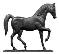 """30"""" Horse Weathervane - Garden Black"""