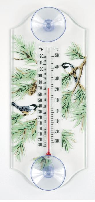 Aspects Chickadee Window Thermometer