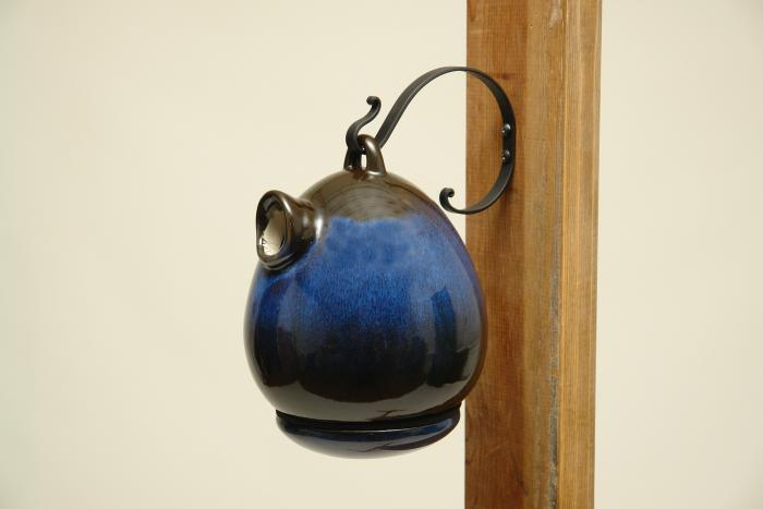 Byer of Maine Egg Birdhouse Cobalt Blue