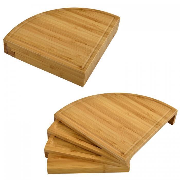 Picnic at Ascot Florence Transforming Bamboo Cheese Board Set