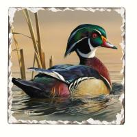 Counter Art Water Birds Tumbled Tile Coasters Set of 4
