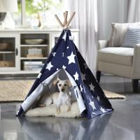 Merry Products Blue with White Stars Medium Pet Teepee