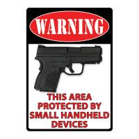 Warning- This Area Protected Tin Sign