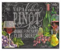 Counter Art Chalkboard Wine Glass Cutting Board 12 x 15