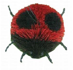 Brushart Ladybug Ornament